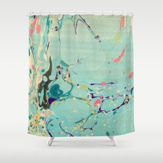 Abstract Painting ; Lagoon Shower Curtain