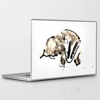 badger Laptop & iPad Skins featuring Badger by Jen Moules