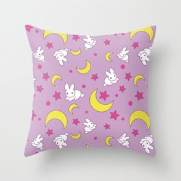 Moon Rabbits Throw Pillow