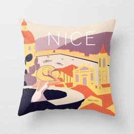Nice – Sunset Version Throw Pillow