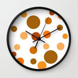 Orange Pop Wall Clock