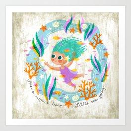 Little Sea Fairy Art Print