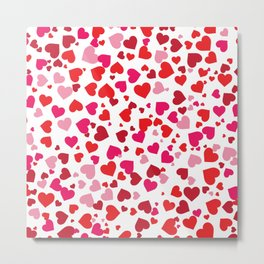 Scattered Hearts Metal Print