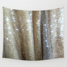Champagne Glitters Wall Tapestry