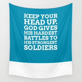 Keep your head up - COLOR7 Wall Tapestry