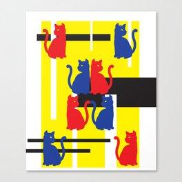 Cat in De Stijl Canvas Print