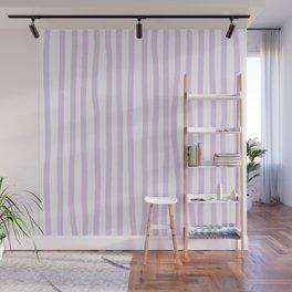 Lavender Stripes Wall Mural