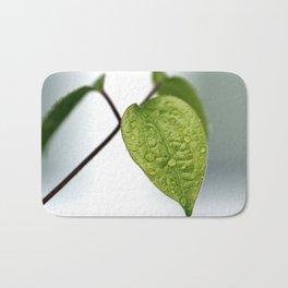 Raindrop Leaves Bath Mat