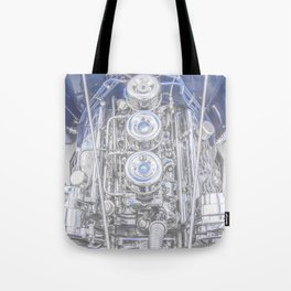 Hot Rod Blue, Automotive Art with Lots of Chrome by Murray Bolesta Tote Bag