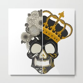 The Skull Equals Metal Print