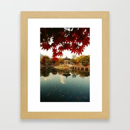 Autumn Gyeongbokgung palace, Seoul, Korea Framed Art Print