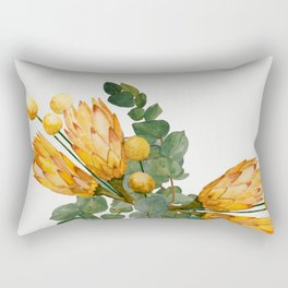 Protea and Billy Flowers Rectangular Pillow