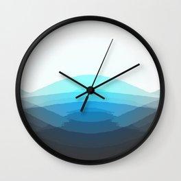 Aqua Gray Ombre Wall Clock