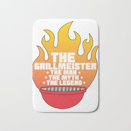 Pitmaster BBQ Barbecue food grill Put my meat in your mouth and swallow Bath Mat