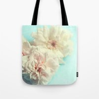 blush Tote Bags featuring blush by Sylvia Cook Photography