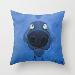 Weimaraner Love - Blue Throw Pillow