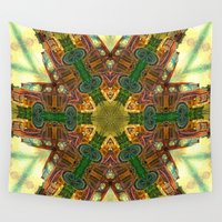 truck Wall Tapestries featuring Rusty Bedford Truck Kaleidoscope by Wendy Townrow