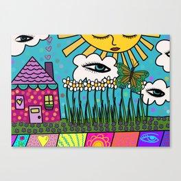 Sleepy House Canvas Print
