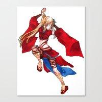 manga Canvas Prints featuring Manga Hero by SpaceMonolith