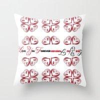 imagine Throw Pillows featuring Imagine by Mari Biro