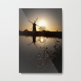 Norfolk Broads Sunset Metal Print