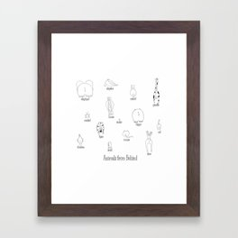 Animals from behind Framed Art Print