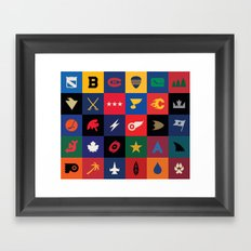 Minimalist Hockey Framed Art Print