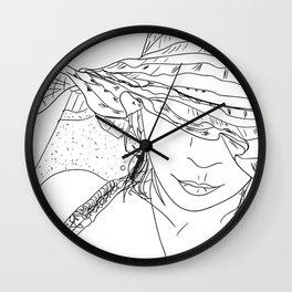 Girl on the beach Wall Clock