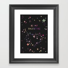 Be my valentine wall art print Framed Art Print