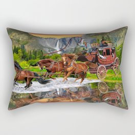 Wells Fargo Stagecoach Rectangular Pillow