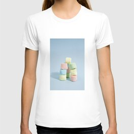 tower of rainbow marshmallow T-shirt