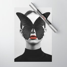 BLACK BUTTERFLY Wrapping Paper