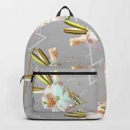 Botanical blooming with geometric 02 Backpack