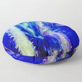 winter moon abstract digital painting Floor Pillow