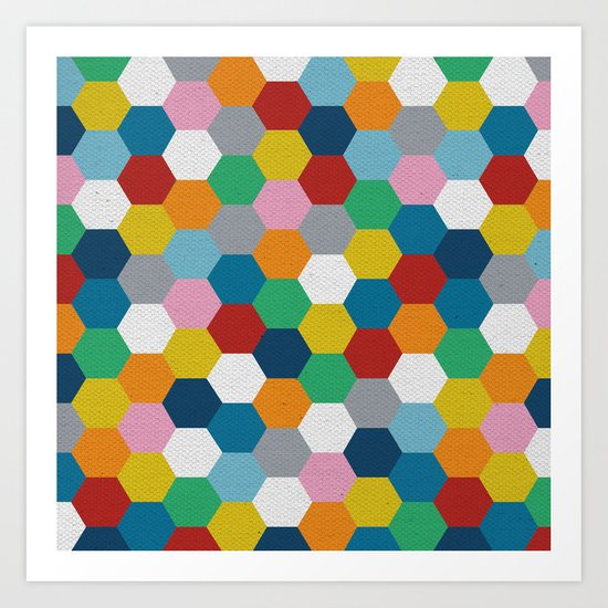 Honeycomb 3 Art Print