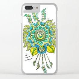 Dreamy Mandala Clear iPhone Case
