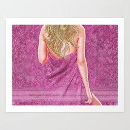 Woman in Towel Art Print