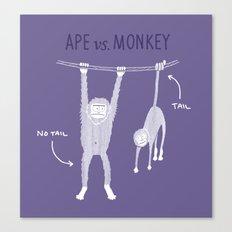 Ape vs. Monkey Canvas Print