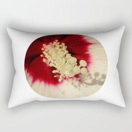 Hibiscus Flower Close Up Photography Floral Art Rectangular Pillow