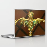 haunted mansion Laptop & iPad Skins featuring Haunted Mansion Bat Stanchion by ArtisticAtrocities