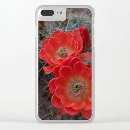 Alien Flowers Clear iPhone Case