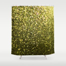 Mosaic Sparkley Texture Gold G188 Shower Curtain