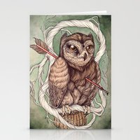 caitlin hackett Stationery Cards featuring Wisdom Wounded by Folly by Caitlin Hackett