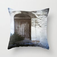 italian Throw Pillows featuring Italian Door by Maria Heyens