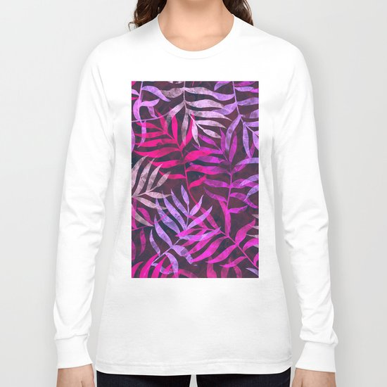 Watercolor Tropical Palm Leaves VI Long Sleeve T-shirt