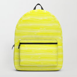Curved gentle scribbles of art waves and light yellow lines. Backpack