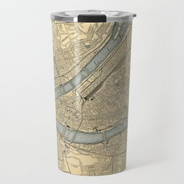 Vintage Map of Pittsburgh PA (1891) Travel Mug