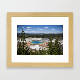 grand prismatic spring Framed Art Print