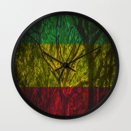 Rasta Forest Wall Clock