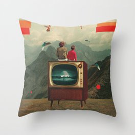 Mother Protect Me from the Sadness of this World Throw Pillow